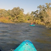 Paddling on River